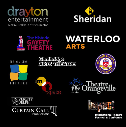 logos of theatre angus audio works with